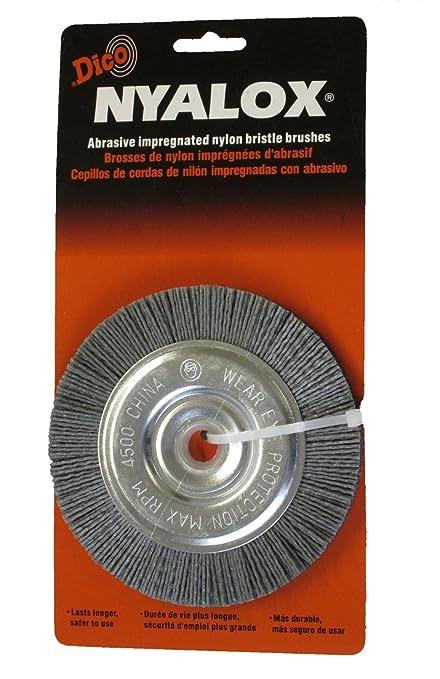 Amazoncom Dico 541 745 5 Nyalox Bench Brush 5 Inch Grey 80 Grit