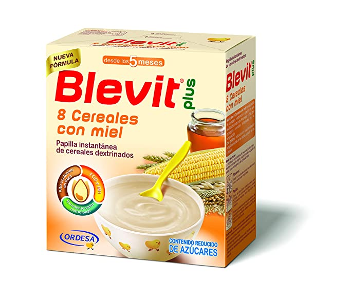 Blevit Plus 8 Cereales Miel - 600 gr.