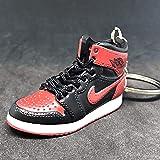 promo code c238d 90ee0 Air Jordan I 1 Retro High Bred Black Red OG Sneakers Shoes 3D Keychain  Figure