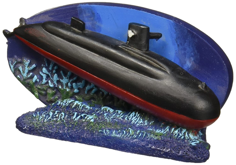 Penn-Plax NVYR4 Submarine Aquarium Ornament, Navy B01846QUGO