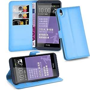 Cadorabo Funda Libro para HTC Desire 816 en Azul Pastel