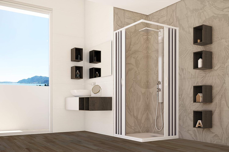 mampara de ducha PVC Cabina angular Fuelle de acrílico reducible A medida, blanco: Amazon.es: Bricolaje y herramientas