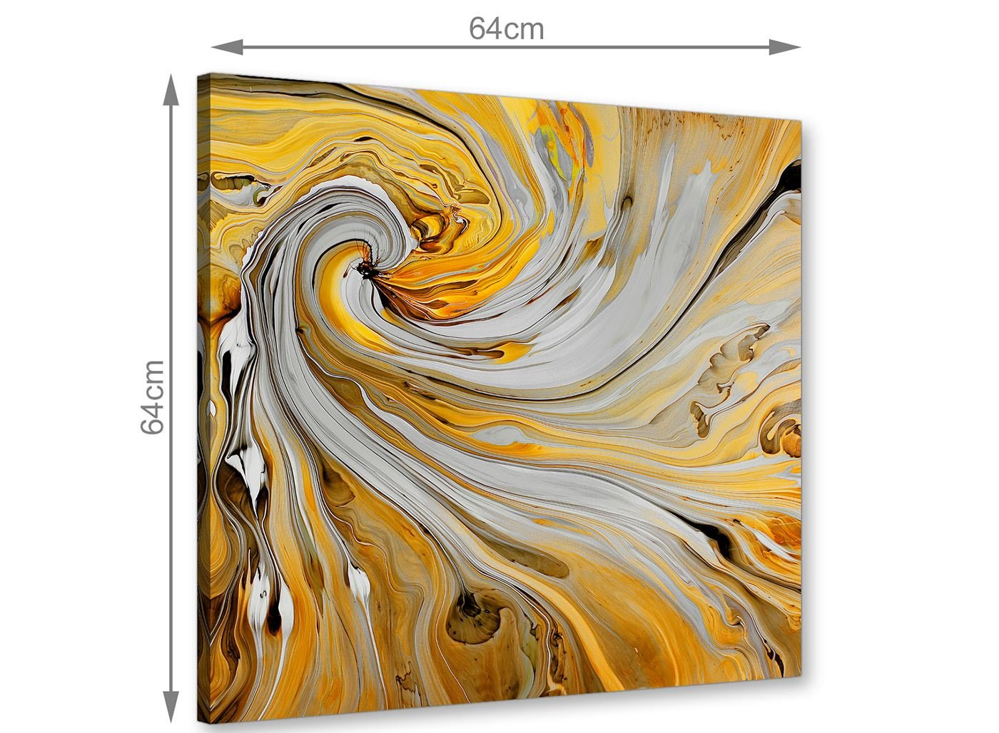 Abstract 1s419s 49cm Mustard Yellow Grey Painting Bathroom Canvas Wall Art