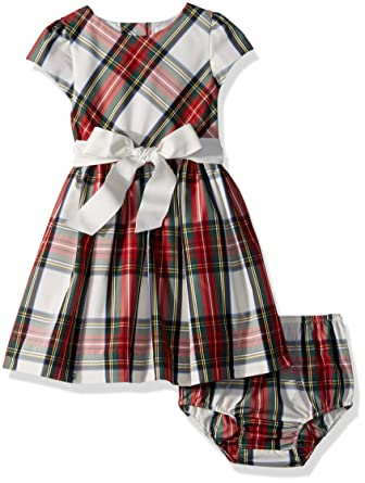 293e6c08a Amazon.com  RALPH LAUREN Girls Tartan Taffeta Dress   Bloomer