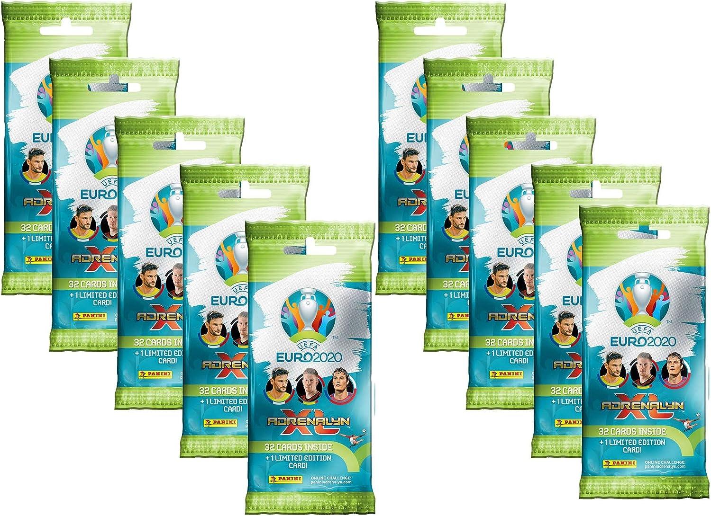 Unbekannt Inconocido Adrenalyn XL Panini UEFA Euro 2020 – 10 x Fat Pack Incluye 1 x Limited Edition Card: Amazon.es: Juguetes y juegos