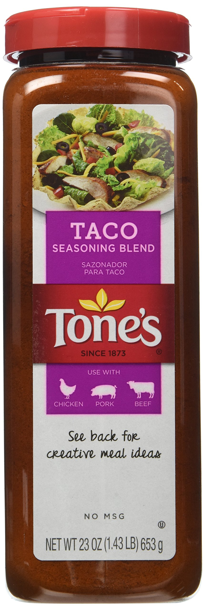 Tone's Spices Taco Seasoning Traditional Blend for Mexican Dishes - Net Weight 23 oz