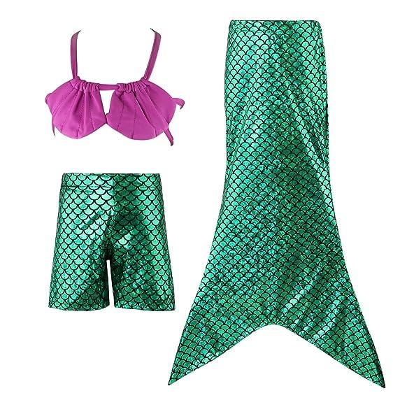 HOUZI Mermaid Tails for Swimming for Girls Swimsuit Swimwear