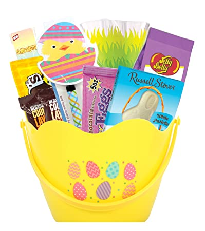 Easter Basket Stuffers Gift Basket for Students Bonus: Jelly Belly, Sunbursts, Hersheys,