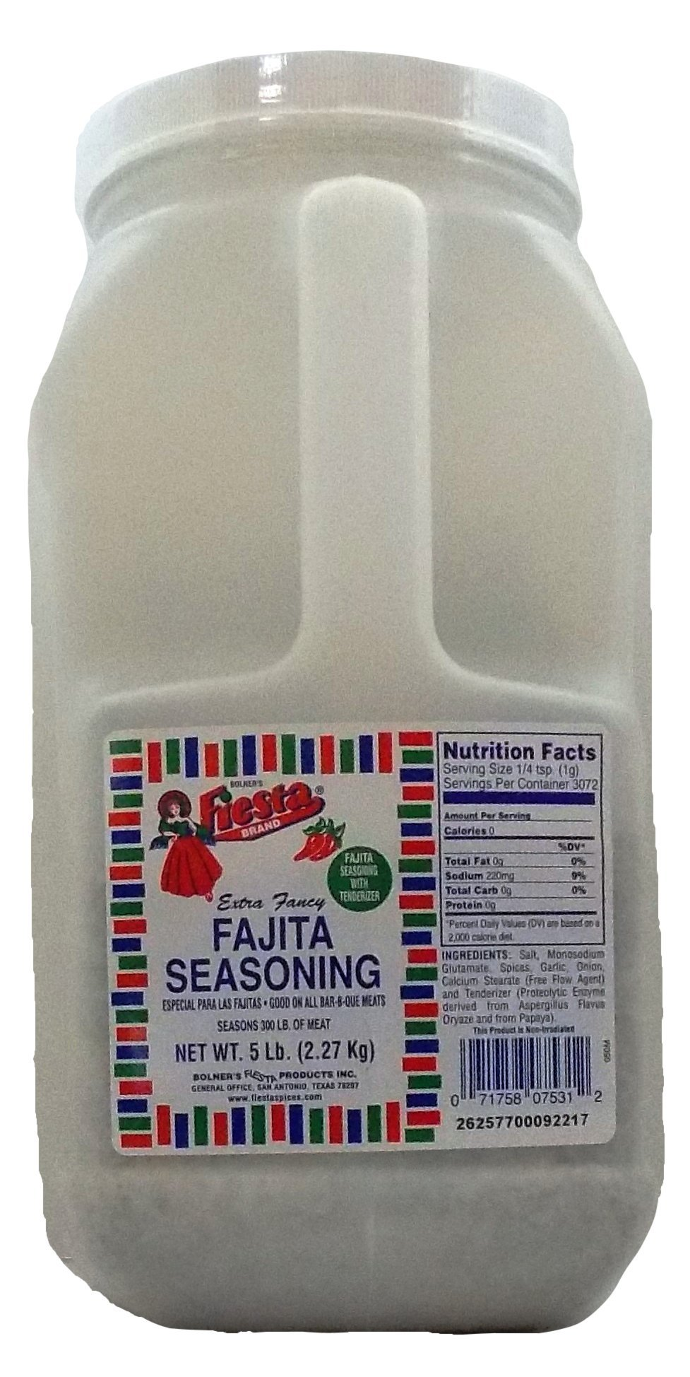 Bolner's Fiesta Extra Fancy Fajita Seasoning, 5 Lb.