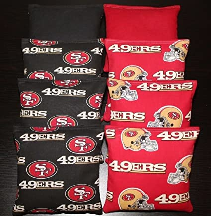 SAN FRANCISCO 49ERS Cornhole Bean Bags 8 ACA Regulation Corn Toss Tailgate Bags