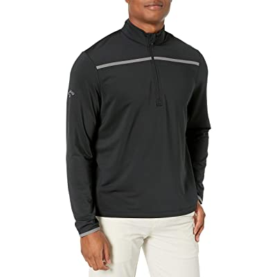 Callaway Men's Golf Chest Stripe Long Sleeve 1/4 Zip Mock Pullover: Clothing
