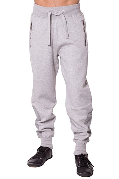 lovely design check out lovely design NOROZE Mens Ankle Contrast Panel Fleece Trousers Jogging Bottoms