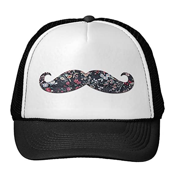 b8f1ca348 Unisex Adult Trucker Cap -Funny Trendy Cool Girly Floral Pattern ...