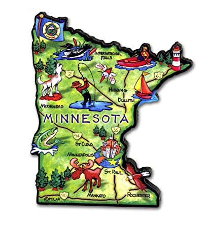 Amazon Com Artwood Magnet Minnesota State Map Home Kitchen