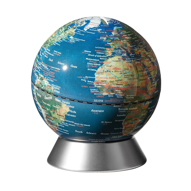 emform Globo terráqueo Orion silver globe piggy bank