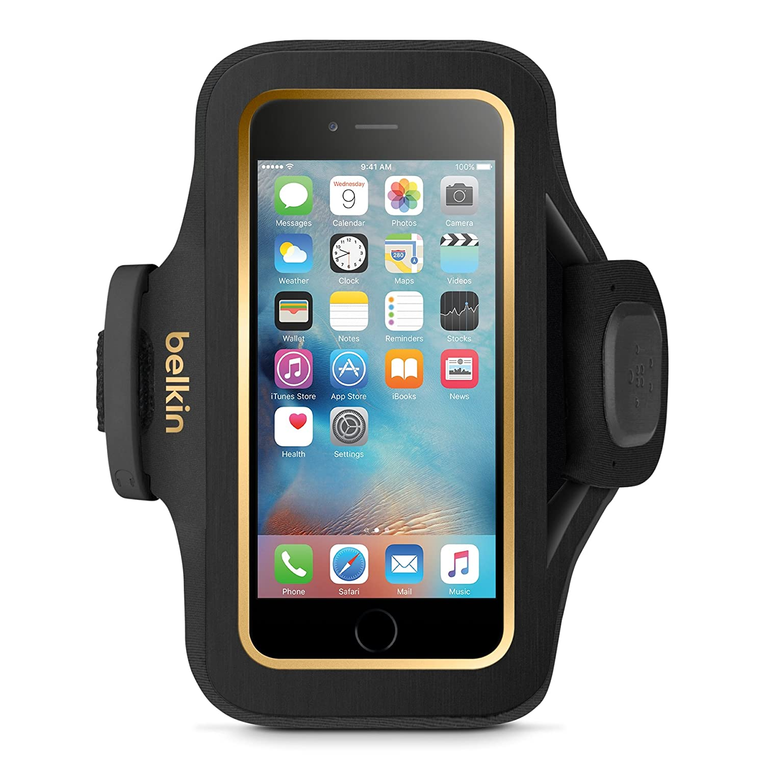 Belkin Storage Plus Armband for iPhone 6 and iPhone 6s (Black)(F8W669btC00) Belkin Components