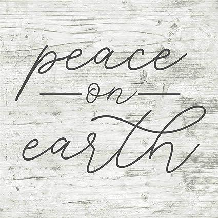 isti Peace On Earth - Cartel de Vinilo para Navidad, Madera ...