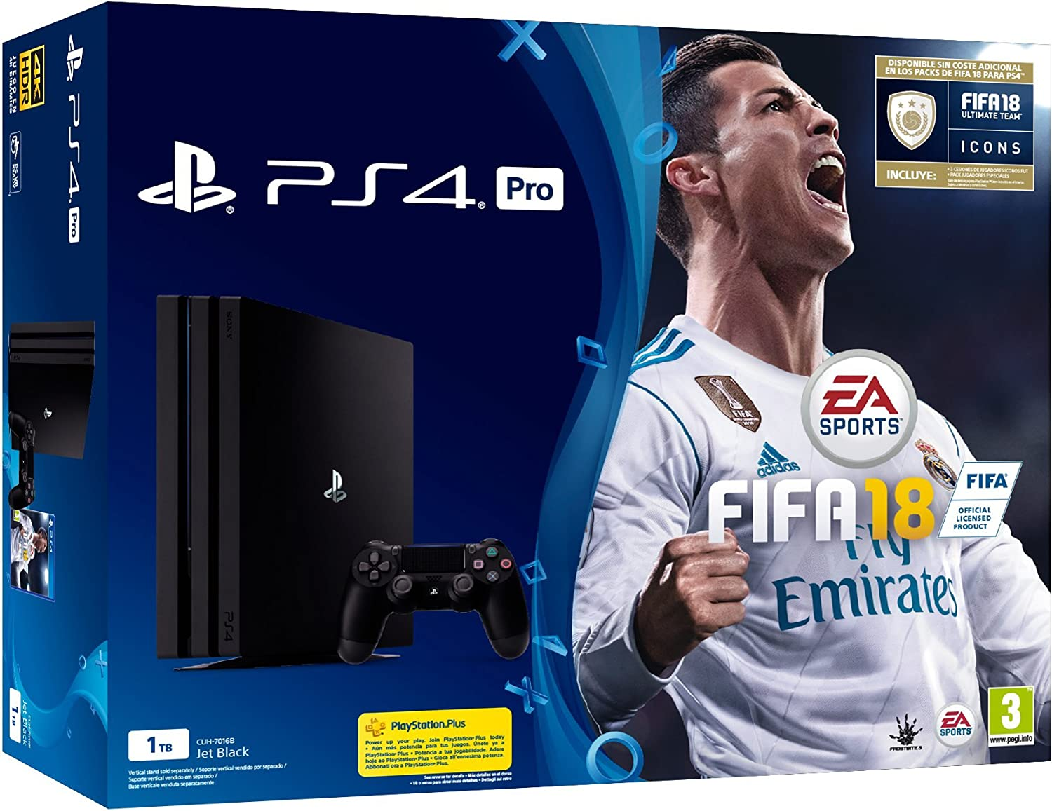 PlayStation 4 Pro (PS4) - Consola de 1 TB + FIFA 18: Amazon.es ...