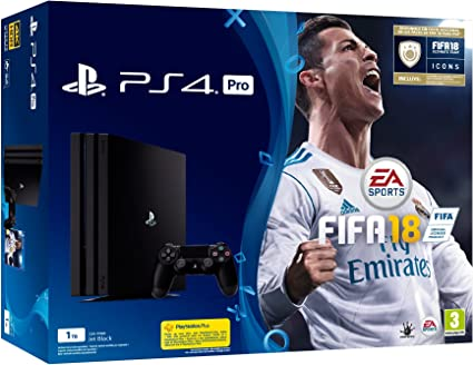 PlayStation 4 Pro (PS4) - Consola de 1 TB + FIFA 18: Amazon.es: Videojuegos
