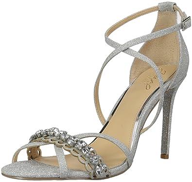 1e51602fccbd Badgley Mischka Jewel Women s Gisele Heeled Sandal Silver 6 Medium US