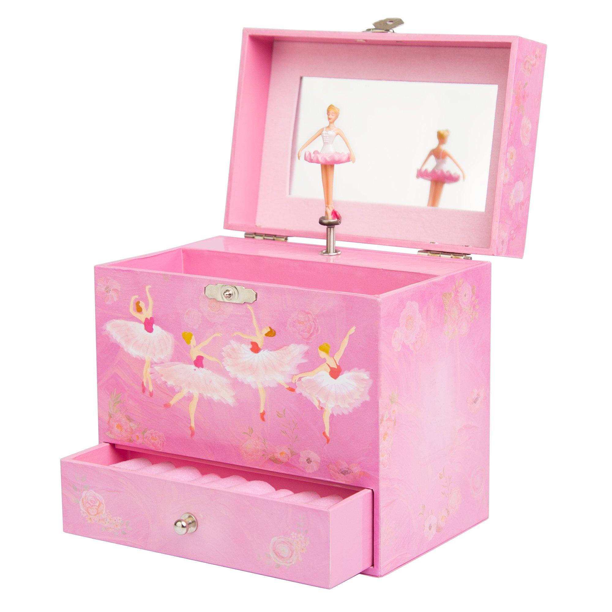 Play Platoon Ballerina Music Box for Girls - Ballet Dancer Jewelry Box