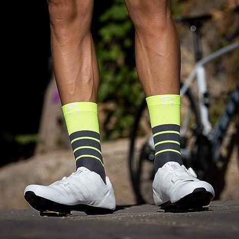MTB e Running a Canna Alta per Uomo e Donna No Pain No Gain Black Calze Ciclismo