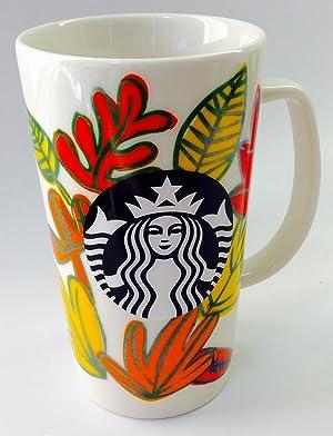 Starbucks Fall Leaves 16 oz Ceramic Logo Mug