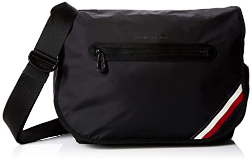 cec57f83b7 Tommy Hilfiger Easy Nylon Messenger W/flap, Men's Shoulder Bag, Black (Tommy