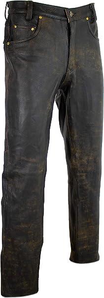 Mdm Lederhose In Antik Braun Lederjeans Bikerjeans Motorrad Lederhose 29 Bekleidung