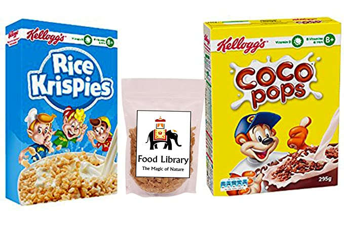 Combo Of Kellogg S Coco Pops 295g Rice Krispies 340g Food