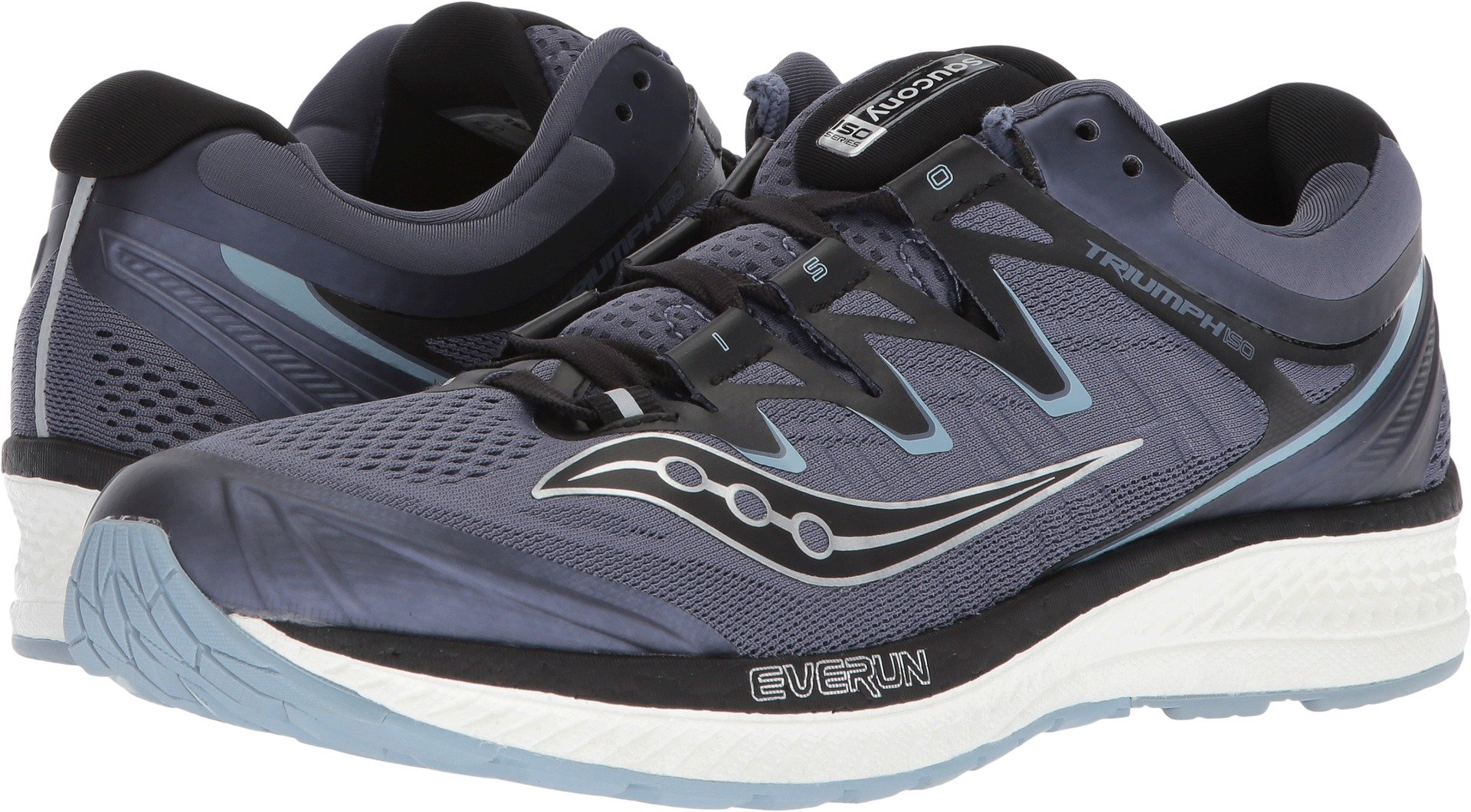 Saucony Men's Triumph ISO 4 Running Shoe, Grey/Black, 12 Medium US