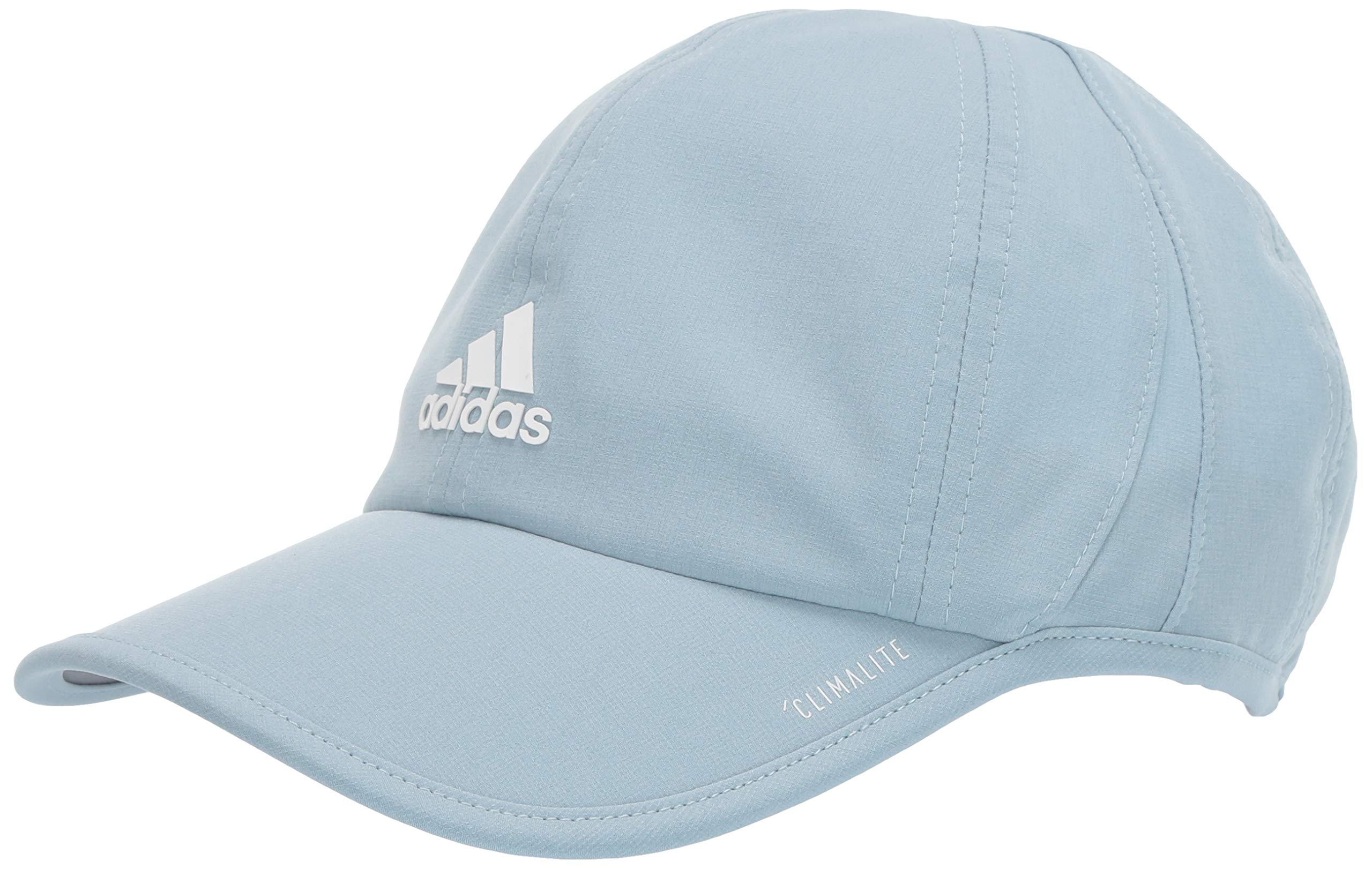 adidas Women's Superlite Relaxed Adjustable Performance Cap, Ash Grey/White, One Size