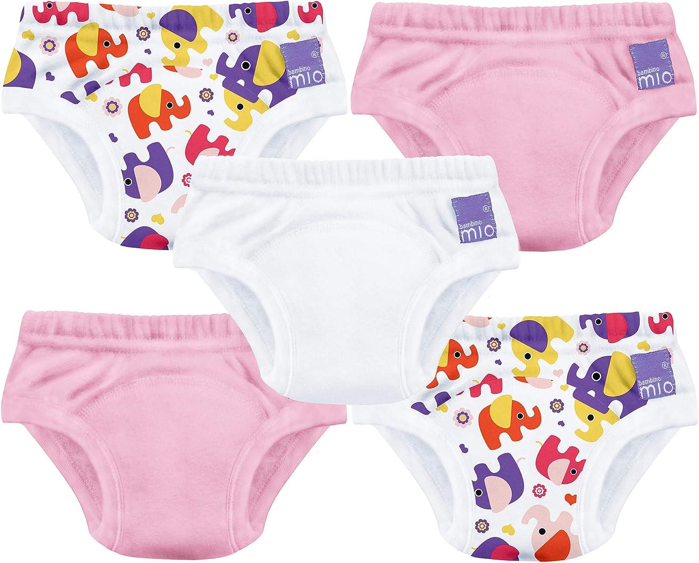 Bambino Mio, pañal de aprendizaje, niña mixto elefante rosa, 3+ años, pack de 5