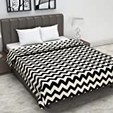 Divine Casa Twilight Geometric 110 GSM Microfibre All Weather Double Dohar - Black