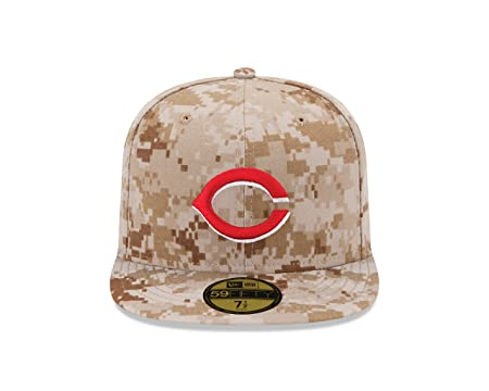 8a0ac18a977 Amazon.com   New Era MLB Military Authentic Collection On Field 59FIFTY  Fitted Cap   Sports   Outdoors