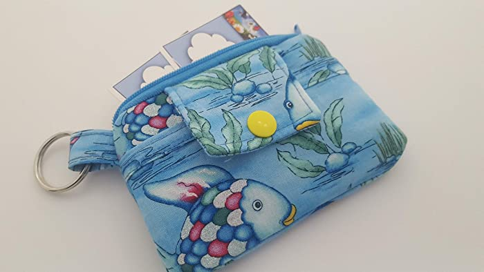 Gift Card Holder Coin Purse   . Ready to Ship .. Small Zippered Pouch   .. Rainbow MONKEYS  . Paci Pouch ..