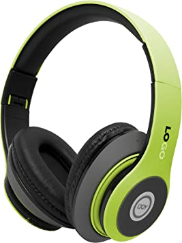 Amazon Com Ijoy Matte Finish Premium Rechargeable Wireless Headphones Bluetooth Over Ear Headphones Foldable Headset With Mic Srg Lime Electronics