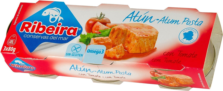Ribeira Conserva de Pescado Atún en Tomate - 10 Latas