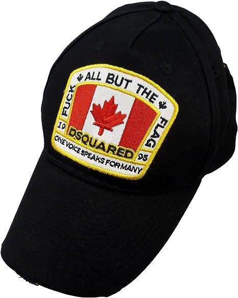 Gorra Dsquared Baseball Cap Black Canada Flag **B-Quality ...