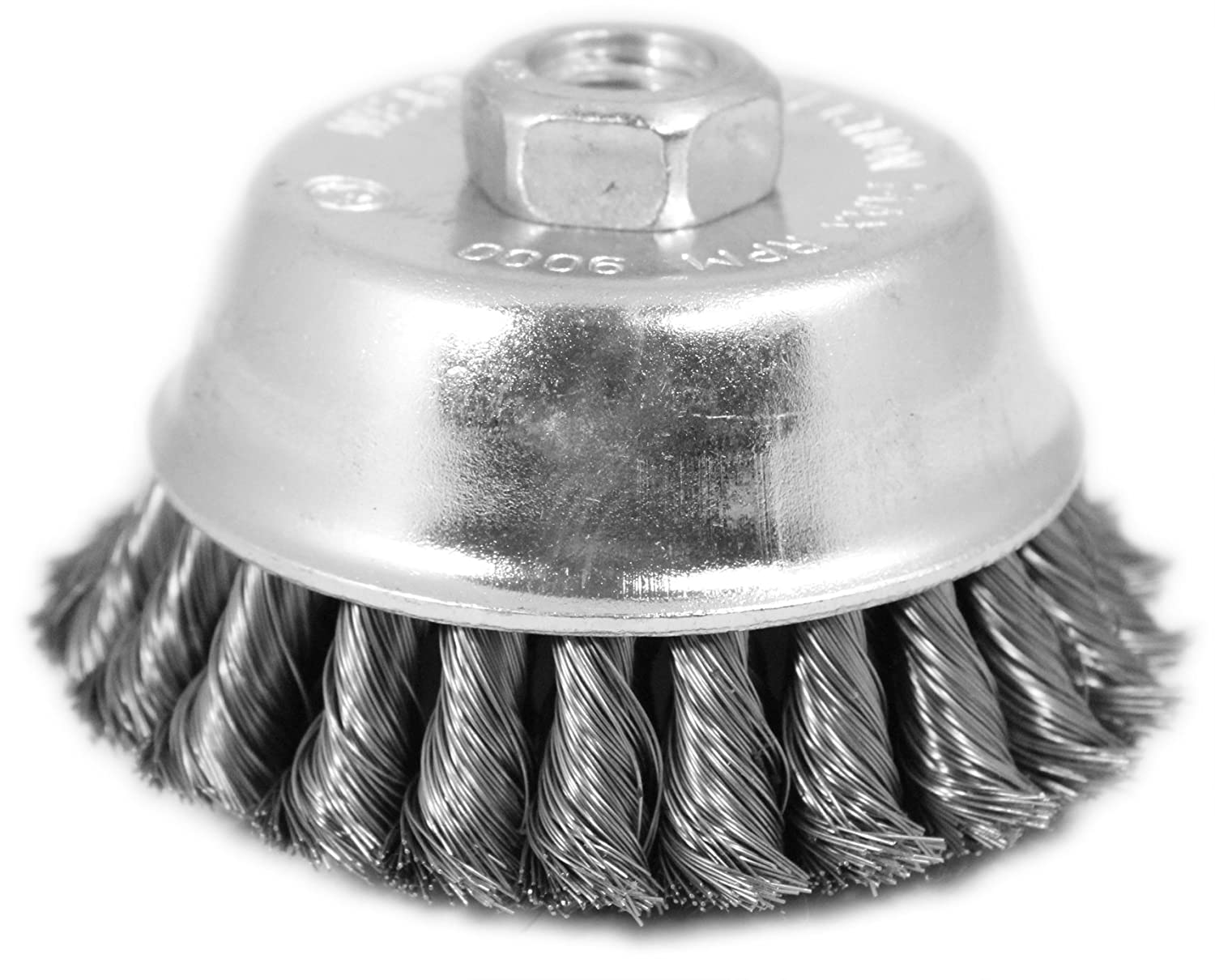Shark 14050  5//8-11NC 0.014-Gauge Wire 5-Inch Double Row Knotted Cup Brush