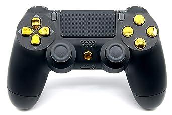Black/Gold PlayStation 4 V2 (new version) Rapid Fire Modded Controller for COD Black Ops3, Infinity Warfare, AW, Destiny, Bat