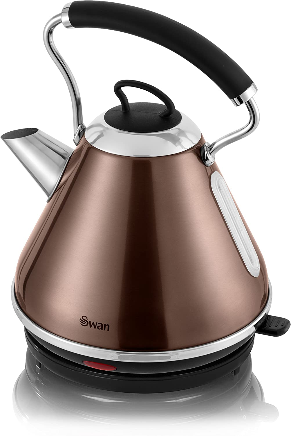 1.8L Cordless Electric Kettle /& 900W 2 Slice Toaster Set Pyramid style Copper