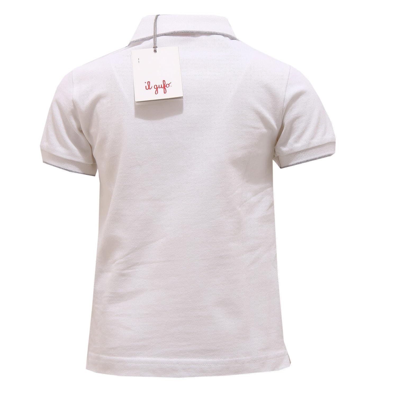 Il Gufo 2691V Polo Bimbo Maglia Bianco White Polo t-Shirt Boy Kid ...
