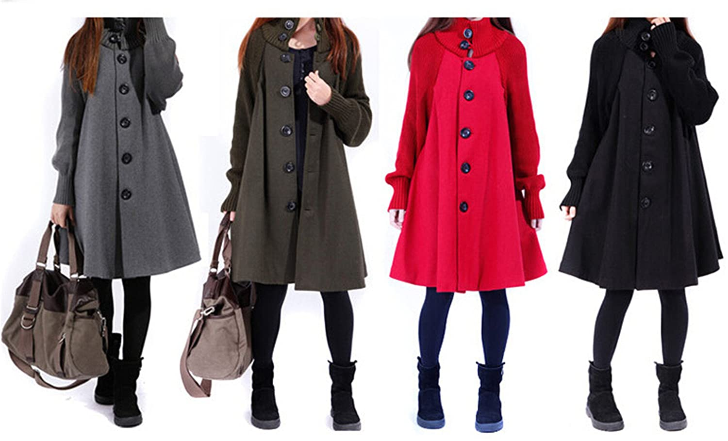 Amazon.com: Stevenurr Popular Outwear Coat Abrigos Mujer Autumn And Winter Cloak Outerwear Women Wool Coat Long Maternity Clothing: Clothing