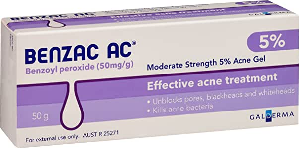 Benzac AC 5.0% Moderate Acne Gel, 50g