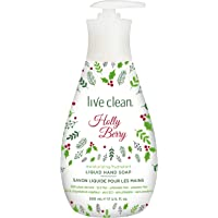 Live Clean Holiday Liquid Hand Soap, Pale Pink, Holly Berry, 500ml