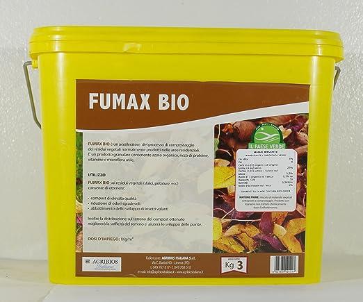 FUMAX COMPOSTANTE PARA RESIDUO VERDE CONF. DE 3 KG: Amazon ...
