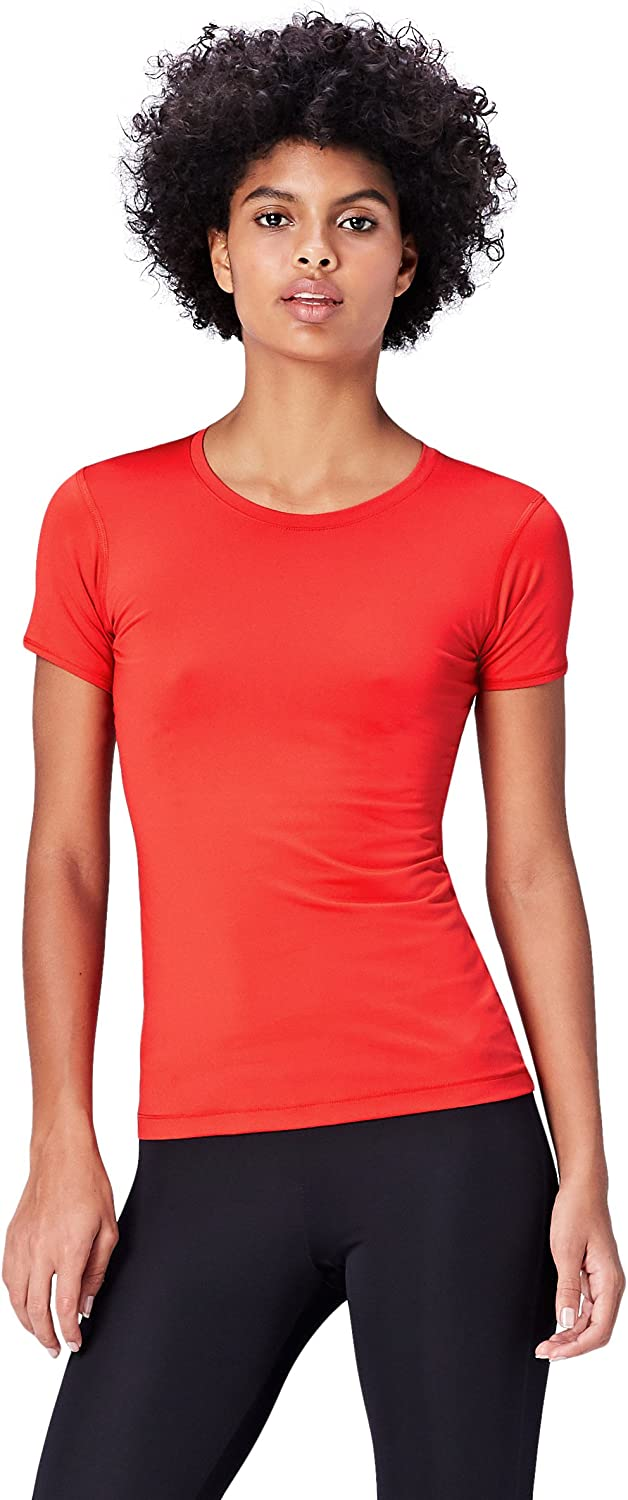 Activewear Mesh Panel Workout Maglia sportiva Donna