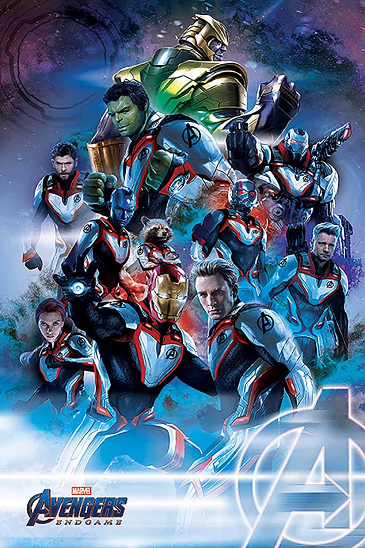 Thanos Spiderman marvel Avengers Movie Large Poster Art Print
