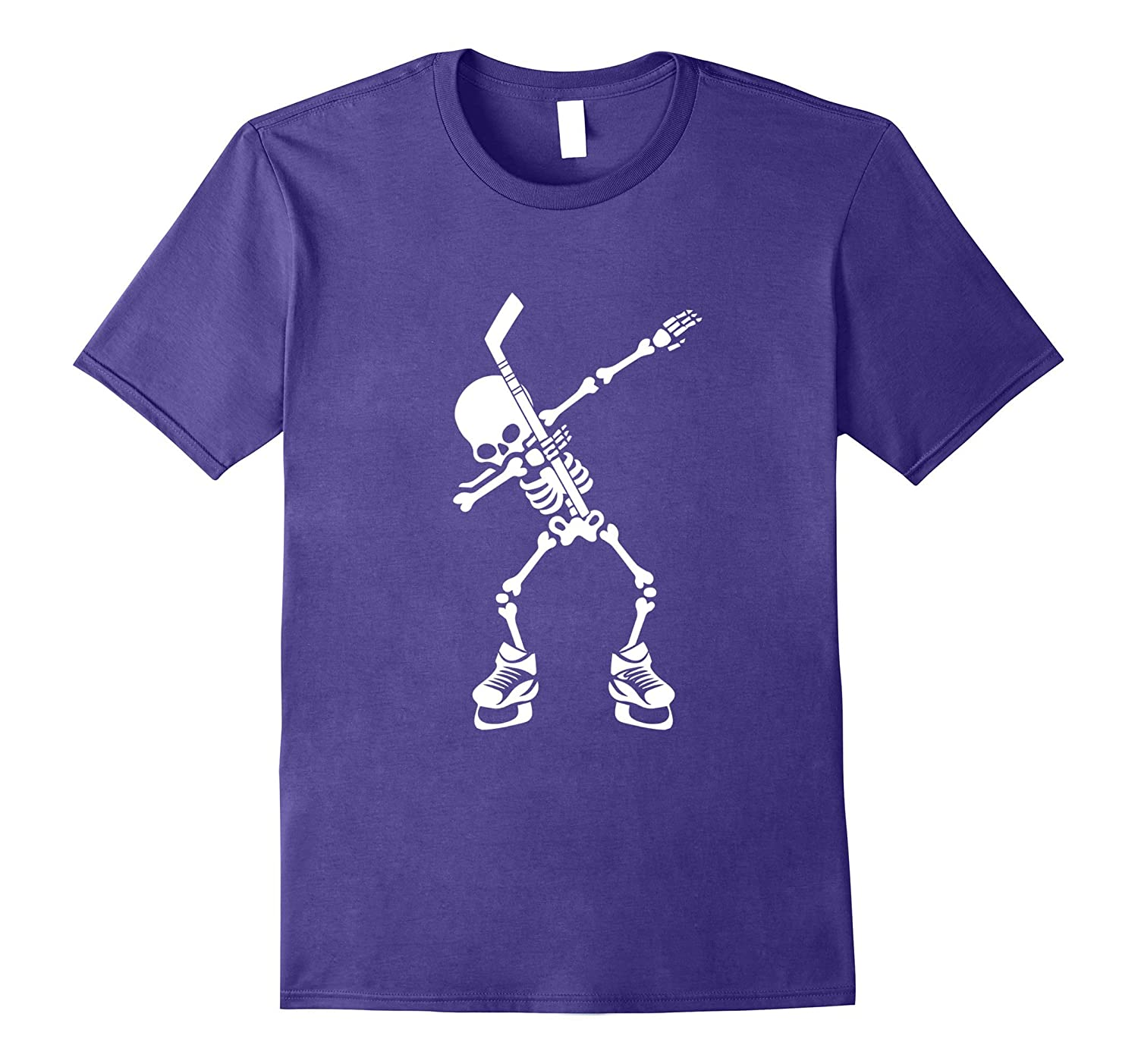 Hockey Skeleton Dabbing Halloween Dab Dance T-Shirt-T-Shirt